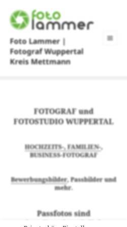 Vorschau der mobilen Webseite uwelammer.de, Uwe Lammer Photography