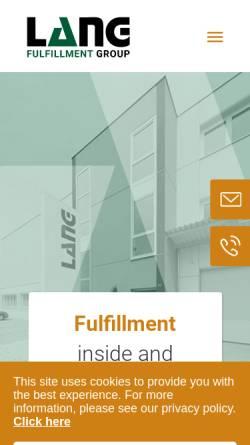 Vorschau der mobilen Webseite www.langindustriedienst.de, LANG Industrie Dienst GmbH