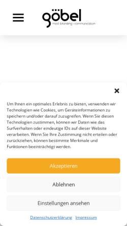 Vorschau der mobilen Webseite www.medbranding-goebel.de, Göbel MedBranding & Communication UG