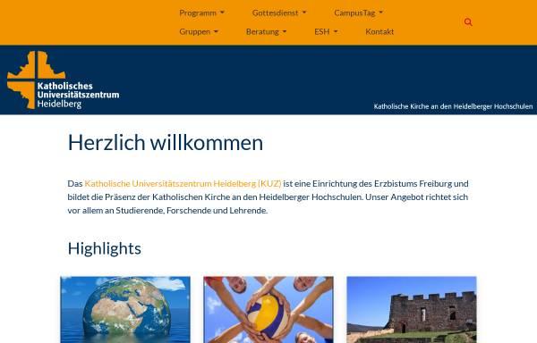 Vorschau von www.kuz-heidelberg.de, Katholisches Universitätszentrum Heidelberg