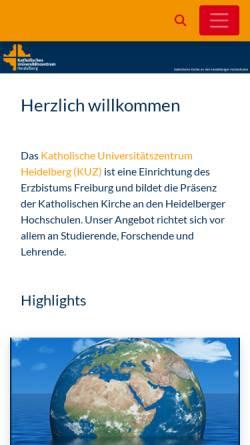 Vorschau der mobilen Webseite www.kuz-heidelberg.de, Katholisches Universitätszentrum Heidelberg