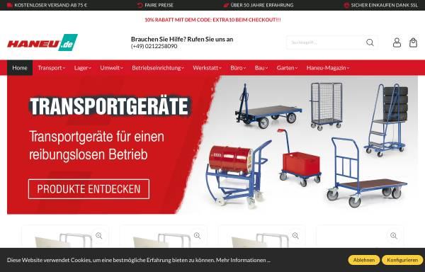 Vorschau von www.haneu.de, HANEU Katalog GmbH