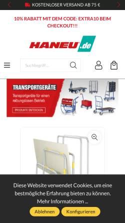 Vorschau der mobilen Webseite www.haneu.de, HANEU Katalog GmbH