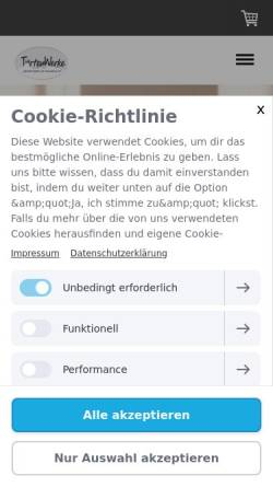 Vorschau der mobilen Webseite www.tortenwerke.de, TortenWerke