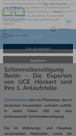 Vorschau der mobilen Webseite uceh.de, U.C.E. Höckert GmbH