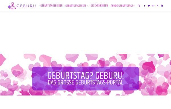 Vorschau von geburu.com, GEBURU