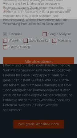 Vorschau der mobilen Webseite www.kundenwachstum.de, Kundenwachstum - Seigwasser GmbH
