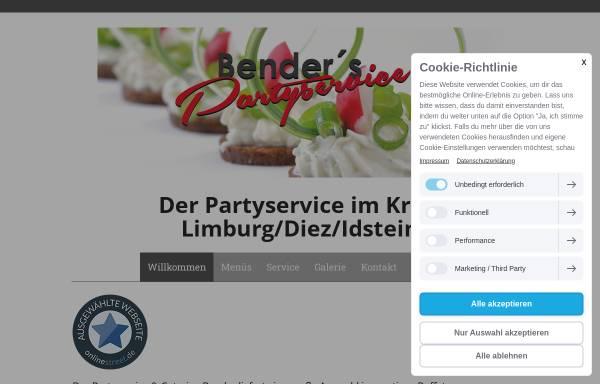 Vorschau von www.partyservicebender.de, Partyservice Bender