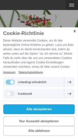Vorschau der mobilen Webseite www.partyservicebender.de, Partyservice Bender