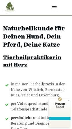 Vorschau der mobilen Webseite www.tierheilpraxis-in-harmonie.de, Tierheilpraxis In Harmonie - Nicola Bidinger