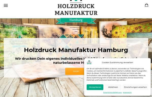 Vorschau von www.holzdruck-manufaktur-hamburg.de, Holzdruck Manufaktur Hamburg