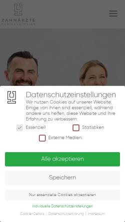 Vorschau der mobilen Webseite stadtwaldpraxis.de, Zahnarzt Essen - Stadtwaldpraxis Curic Heimeier