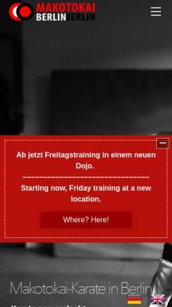 Vorschau der mobilen Webseite www.makotokai-karate.de, Makotokai Berlin