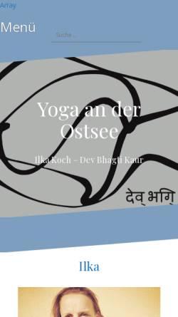Vorschau der mobilen Webseite yoga-an-der-ostsee.de, Yoga an der Ostsee - Ilka Koch