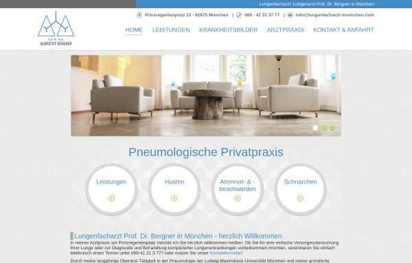 Vorschau von www.lungenfacharzt-muenchen.com, Lungenfacharzt Prof. Dr. med. Albrecht Bergner
