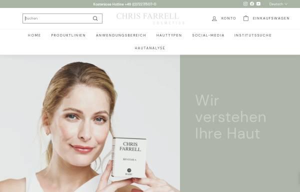 Vorschau von www.chris-farrell.com, Chris Farrell Cosmetics GmbH
