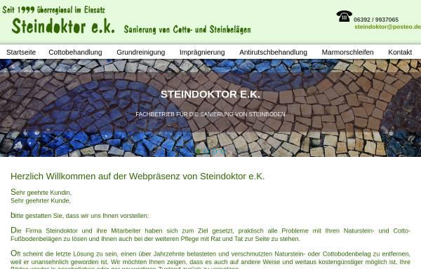 Vorschau von www.steindoktor.de, Steindoktor e.K.