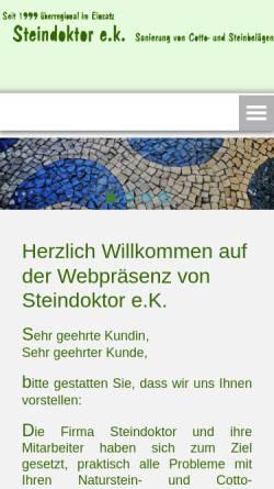 Vorschau der mobilen Webseite www.steindoktor.de, Steindoktor e.K.