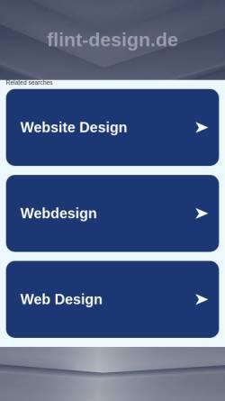 Vorschau der mobilen Webseite www.flint-design.de, FLINT-DESIGN INTERIOR