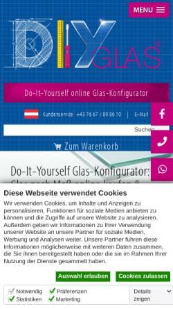 Vorschau der mobilen Webseite www.diy-glas.at, Linzer Glasgestaltung GmbH