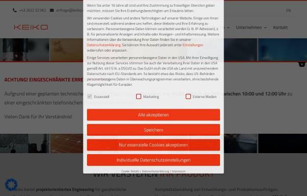 Vorschau von www.keiko.at, KEIKO GmbH