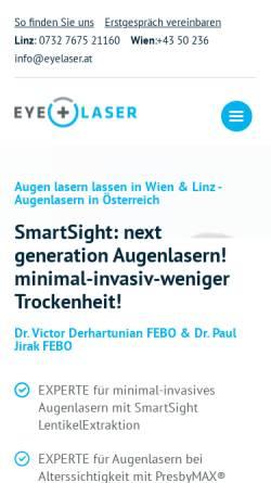 Vorschau der mobilen Webseite www.eyelaser.at, EyeLaser Wien