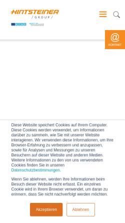 Vorschau der mobilen Webseite www.hintsteiner-group.com, Hintsteiner Group GmbH