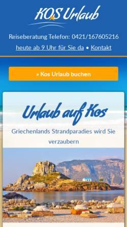 Vorschau der mobilen Webseite www.kosurlaub.de, KosUrlaub