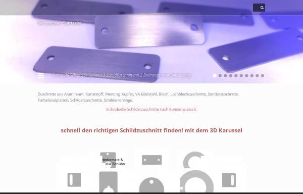 Vorschau von www.schilder-zuschnitte.de, Schilder Zuschnitte