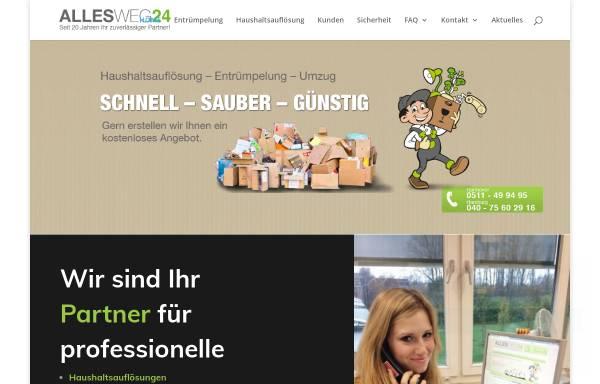 Vorschau von www.allesweg24.de, Alles Weg 24