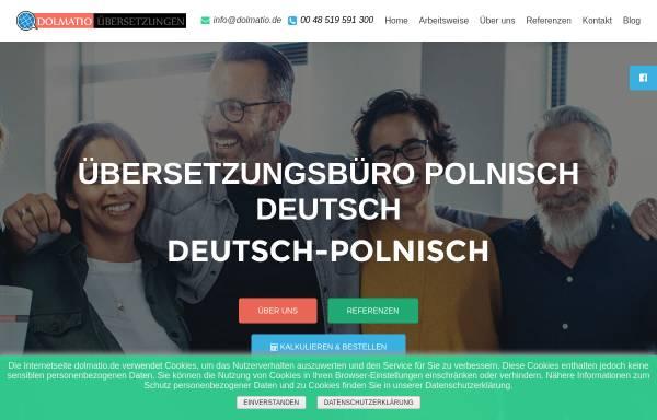 Vorschau von dolmatio.de, Dolmatio Übersetzungen