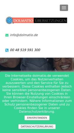 Vorschau der mobilen Webseite dolmatio.de, Dolmatio Übersetzungen