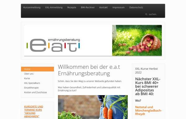 Vorschau von www.eat-ernaehrungsberatung.de, e.a.t. Ernährungsberatung