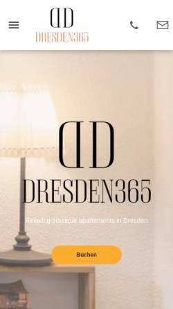 Vorschau der mobilen Webseite Dresden365.de, Dresden365