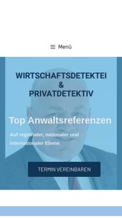 Vorschau der mobilen Webseite www.dshprotect.de, Detektiv-Team DSH