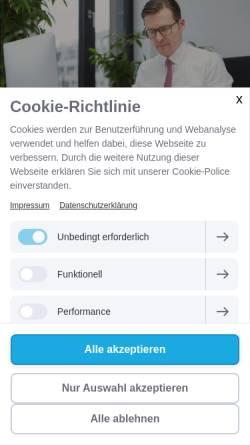 Vorschau der mobilen Webseite www.fachanwaltpatientenrecht.de, Michael Graf Patientenanwälte