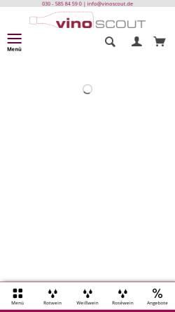 Vorschau der mobilen Webseite www.vinoscout.de, Vinoscout GmbH