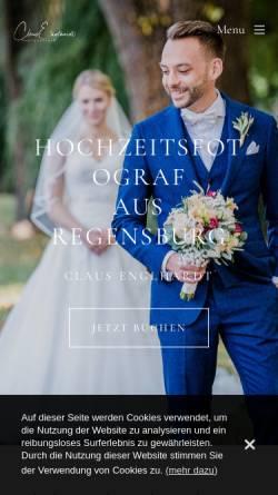 Vorschau der mobilen Webseite www.clausenglhardt.com, Claus Englhardt - Hochzeitsfotograf aus Regensburg