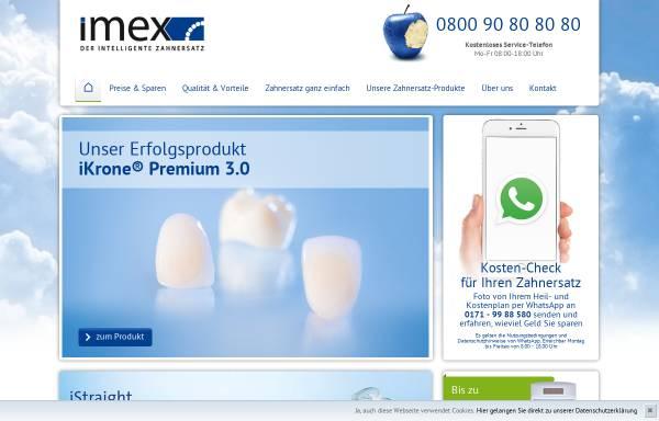 Vorschau von imex-zahnersatz.de, Imex Dental und Technik GmbH