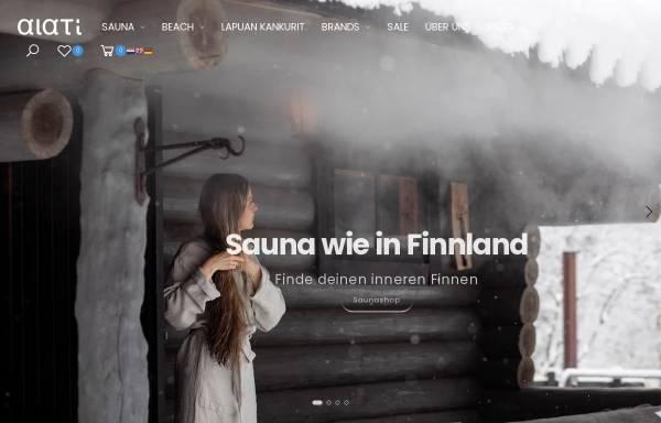 Vorschau von www.alati.de, ALATI Onlineshop für Sauna- und Wellnessprodukte
