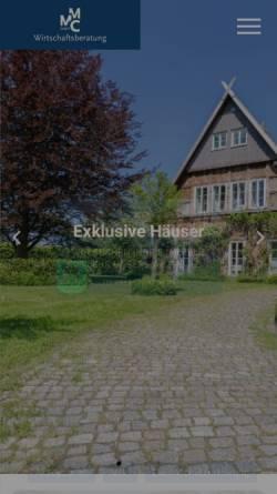Vorschau der mobilen Webseite www.mmc-immobilien.de, MMC Immobilien