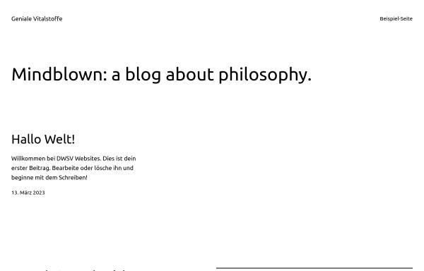 Vorschau von www.geniale-vitalstoffe.de, Verway Onlineshop