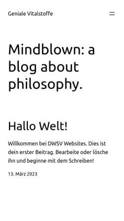 Vorschau der mobilen Webseite www.geniale-vitalstoffe.de, Verway Onlineshop