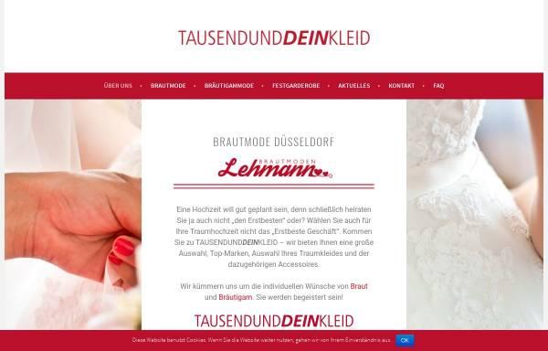 Vorschau von lehmann-brautmoden.de, TAUSENDUNDDEINKLEID -Brautmode Lehmann