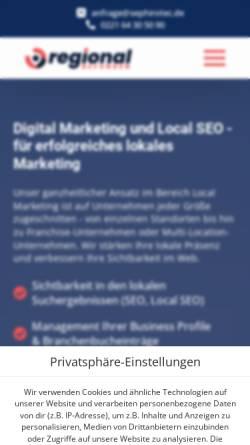 Vorschau der mobilen Webseite sephirotec.com, SEPHIROTEC GmbH
