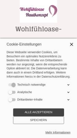 Vorschau der mobilen Webseite www.wohlfuehloasers.de, Kosmetikstudio Wohlfühl-Oase