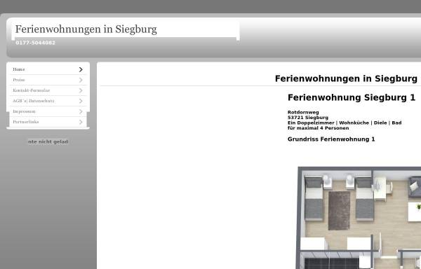 Vorschau von www.monteurwohnungen-siegburg.de, Ferienwohnungen Siegburg - Patricia Treder & Markus Fecke