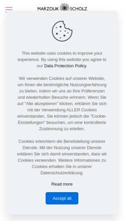 Vorschau der mobilen Webseite grafikdesign-marzoukscholz.de, Digital & Print Design MONA MARZOUK-SCHOLZ