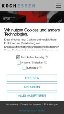 Vorschau der mobilen Webseite koch-essen.de, Koch Essen Kommunikation + Design GmbH