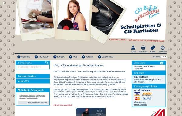 Vorschau von www.cd-vinyl-lp.at, CD-LP-Raritäten Kraus